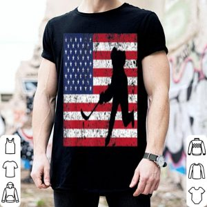 USA American Flag Hockey 4th of July shirt