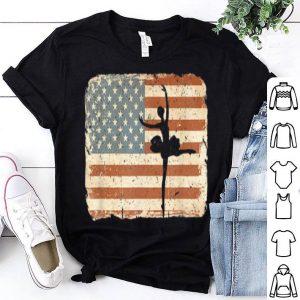 Vintage Ballet Dancer Kids American Flag July 4th shirt