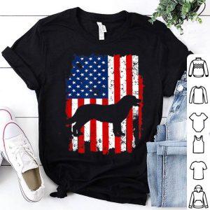 Vintage Labrador American Usa Flag Dog shirt