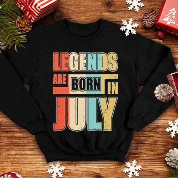 Vintage legends are born in july shirt