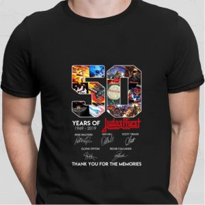 50 Years of Judas Priest 1969-2019 signatures shirt