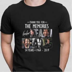 54 years of Keanu Reeves signatures thank you for the memories shirt