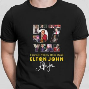 57 Years Farewell Yellow Brick Road Elton John signature shirt sweater