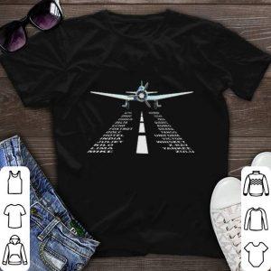 Alphabet Pilot Airplane Phonetic shirt