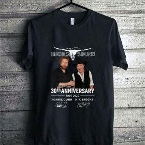 Brooks & Dunn 30th anniversary 1990-2020 signatures shirt