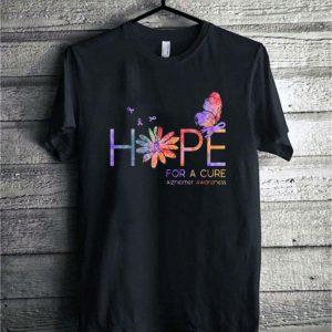 Butterfly flower Hope for a cure Alzheimer Awareness shirt