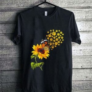 Dogs paw sunflower and butterfly shirt sweater