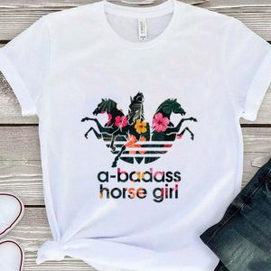Floral Adidas a-badass horse girl shirt