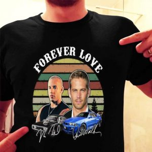 Forever Love Fast and Furious vintage signature shirt