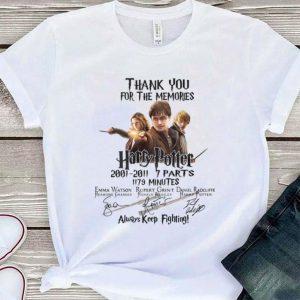 Harry Potter 2001-2011 Signatures Always Keep Fighting shirt