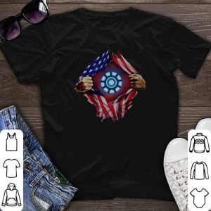 Iron Man Arc Reactor American flag shirt