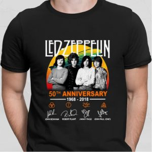Led Zeppelin 50th anniversary signatures shirt