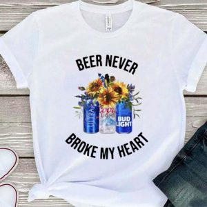 Michelob Ultra Beer never broke my heart Coors Light Bud Light shirt sweater