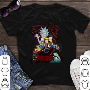 Morty and Rick version Stranger Things shirt