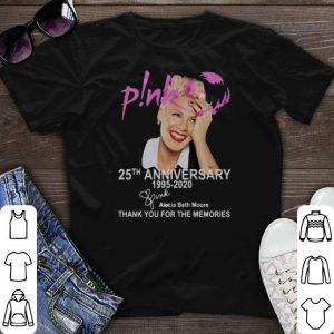 Pink 25th Anniversary 1995-2020 signature Alecia Beth Moore shirt