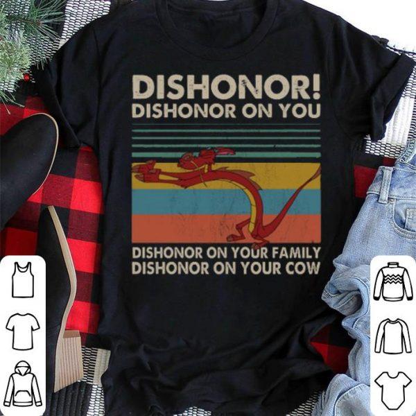 Vintage Mushu dishonor dishonor on you dishonor on your family shirt