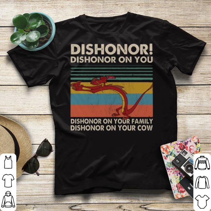 Vintage Mushu dishonor dishonor on you dishonor on your family shirt 4 - Vintage Mushu dishonor dishonor on you dishonor on your family shirt
