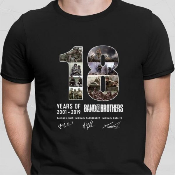18 Years Of Band Of Brothers 2001-2019 signatures shirt