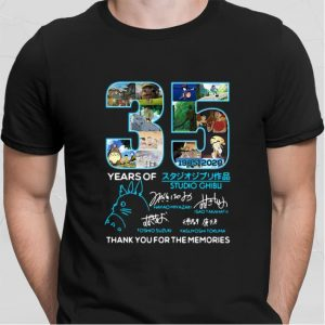 35 Years Of Studio Ghibli 1985-2020 Signatures Thank You For The shirt