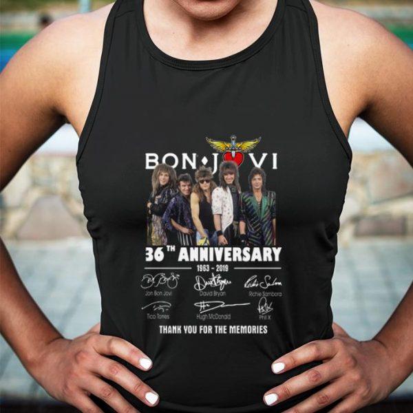 Bon Jovi 36th anniversary 1963-2019 signatures thank you for the shirt