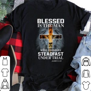 Lion blessed is the man who remains steadfast under trial james shirt sweater