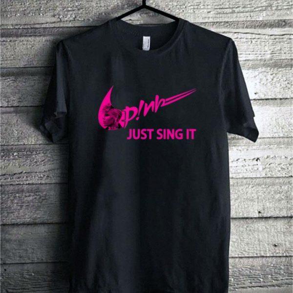 Nike Pink just sing it shirt sweater