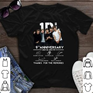 Signatures 9th Anniversary One Direction 2010-2019 shirt