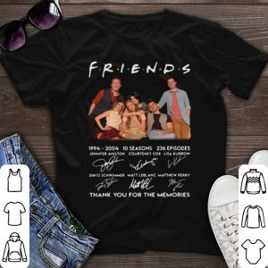 Signatures Friends 1994-2004 10 seasons 236 episodes shirt