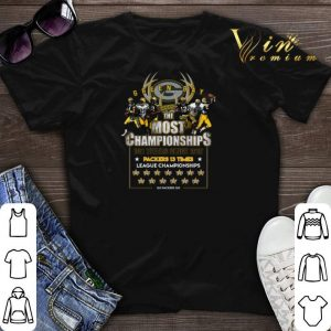 Since 1919 Green Bay Packers the most championships 100 years shirt