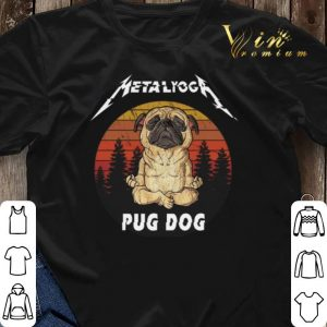 Sunset Metallica Metalyoga pug dog shirt 2