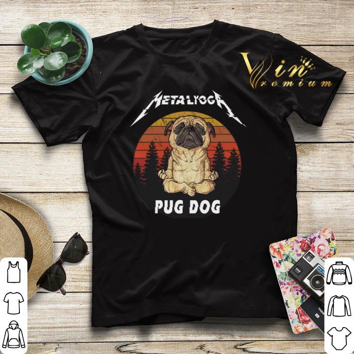 Sunset Metallica Metalyoga pug dog shirt 4 - Sunset Metallica Metalyoga pug dog shirt