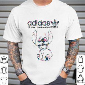adidas all day I dream about Stitch shirt