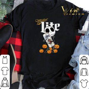 Jack Skellington hug Miller Lite pumpkins shirt sweater