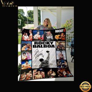 Rocky Balboa Signature quilt blanket