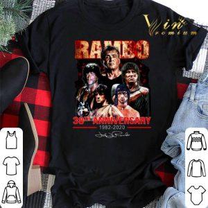 Signature Rambo 38th anniversary 1982-2020 shirt