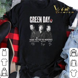 Signatures Green Day thank you for the memories shirt