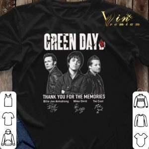 Signatures Green Day thank you for the memories shirt 2