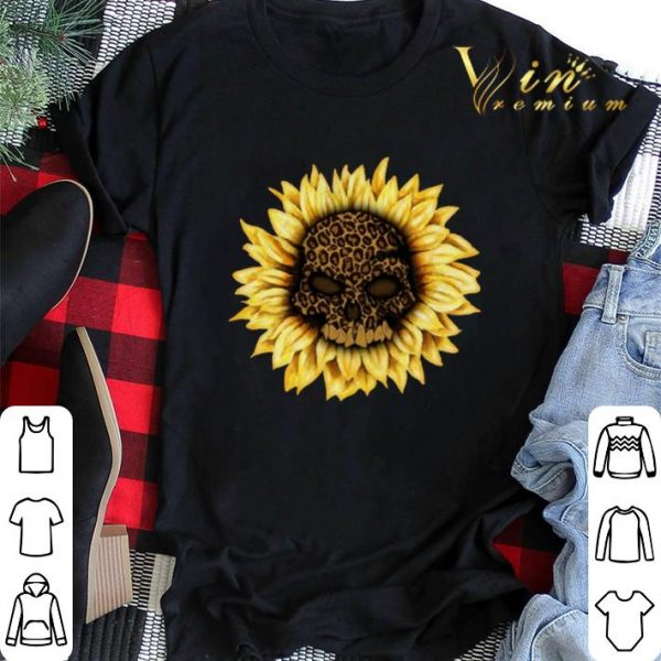 Skull Sunflower Leopard Skull shirt