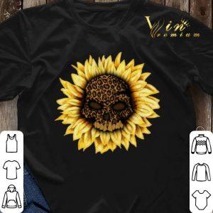 Skull Sunflower Leopard Skull shirt 2
