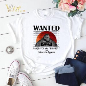 Wanted sasquatch aka bigfoot for failure to appear sunset shirt sweater