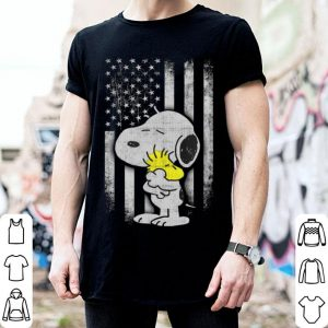 American Flag Snoopy Woodstock shirt
