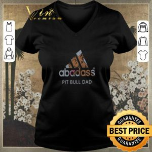 Awesome Adidas Abadass Pit Bull Dad shirt sweater