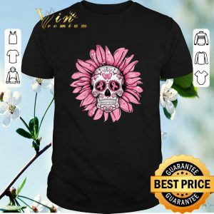 Awesome Breast Cancer Awareness Sugar Skull Sunflower shirt sweater