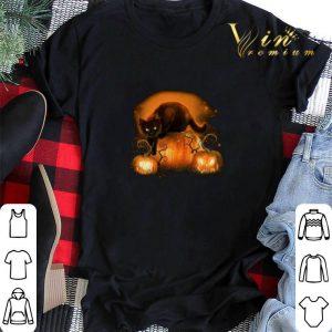 Awesome Halloween Black cat pumpkins shirt