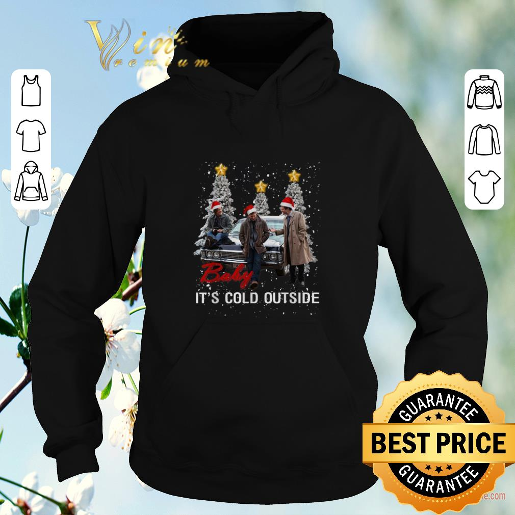 Awesome Supernatural baby it s cold outside Christmas shirt sweater 4 - Awesome Supernatural baby it's cold outside Christmas shirt sweater
