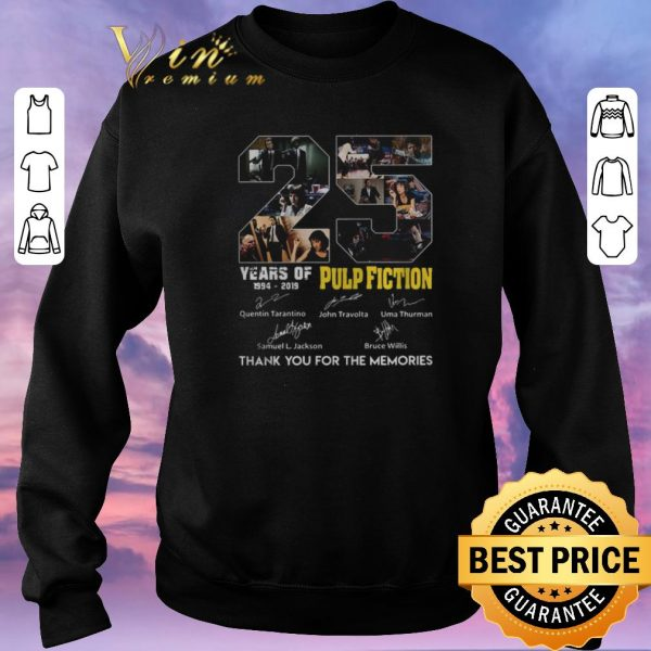 Awesome Thank you for the memories 25 years of Pulp Fiction 1994-2019 shirt