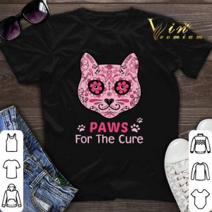 Cat Paws for the cure Breast Cancer Awareness shirt sweater