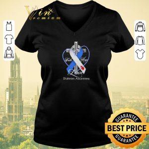Funny Cross faith hope love Diabetes Awareness shirt sweater