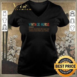 Funny Vintage nurse knows more than she says and notices more than you shirt sweater