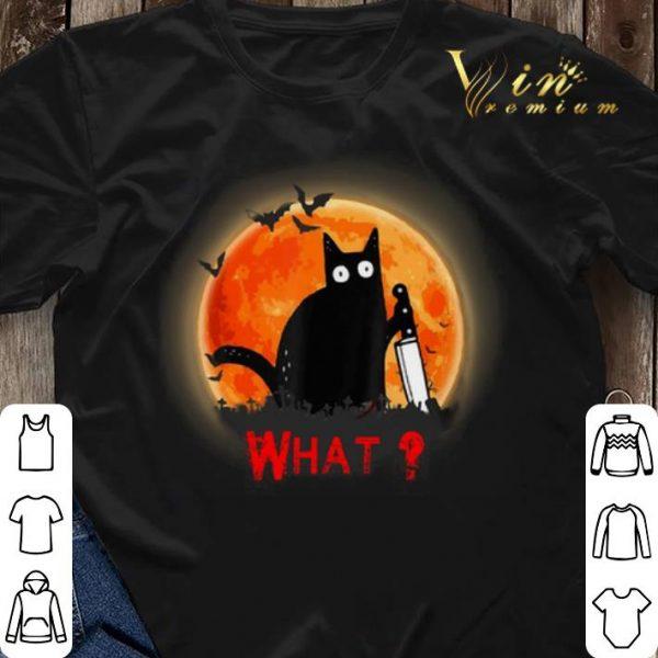 Halloween Black cat what sunset shirt